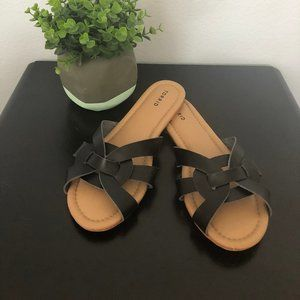 Black Torrid Woven Slide On Sandals 8 Wide
